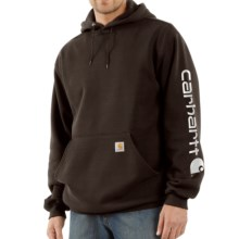 Carhartt Midweight Logo Hoodie (For Men) in Dark Brown - 2nds