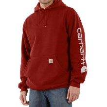 Carhartt Midweight Logo Hoodie (For Men) in Dark Crimson - 2nds