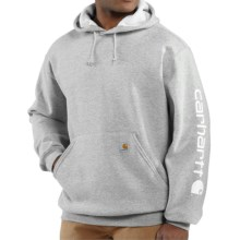 Carhartt Midweight Logo Hoodie (For Men) in Heather Grey - 2nds