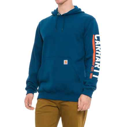Carhartt Midweight Original Workwear Graphic Hoodie (For Big and Tall Men) in Superior Blue - Closeouts