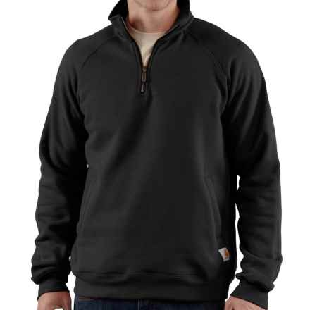 Carhartt Midweight Sweatshirt - Zip Neck (For Big Men) in Black - 2nds