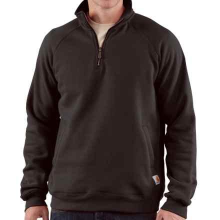 Carhartt Midweight Sweatshirt - Zip Neck (For Men) in Black - 2nds