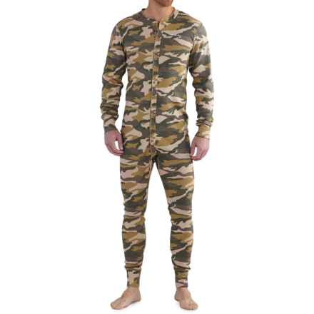 Carhartt Midweight Union Suit - Long Sleeve, Factory Seconds (For Big and Tall Men) in Rugged Khaki Camo - Closeouts