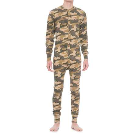 Carhartt Midweight Union Suit - Long Sleeve, Factory Seconds (For Men) in Rugged Khaki Camo - 2nds