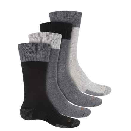 Carhartt Midweight Work Socks - 4-Pack, Crew (For Men) in Black/Grey - Closeouts