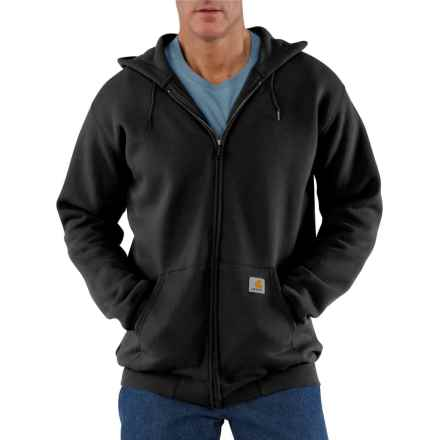 Carhartt Midweight Zip-Front Core Hoodie - Factory Seconds (For Big and Tall Men) in Black - 2nds