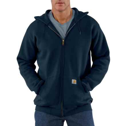 Carhartt Midweight Zip-Front Core Hoodie - Factory Seconds (For Big and Tall Men) in New Navy - 2nds