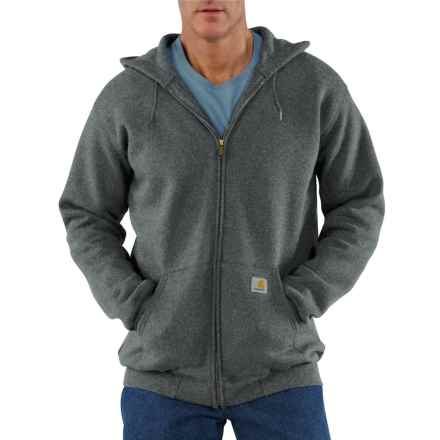 Carhartt Midweight Zip-Front Hoodie - Factory Seconds (For Big and Tall Men) in Charcoal Heather - 2nds