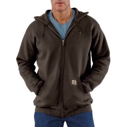 Carhartt Midweight Zip-Front Hoodie - Factory Seconds (For Big and Tall Men) in Dark Brown - 2nds