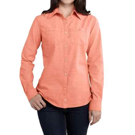 Carhartt Milam Shirt - Long Sleeve, Factory Seconds (For Women) in Burnt Coral - 2nds