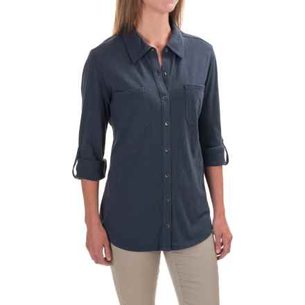 Carhartt Milam Shirt - Long Sleeve, Factory Seconds (For Women) in Deep Blue - 2nds