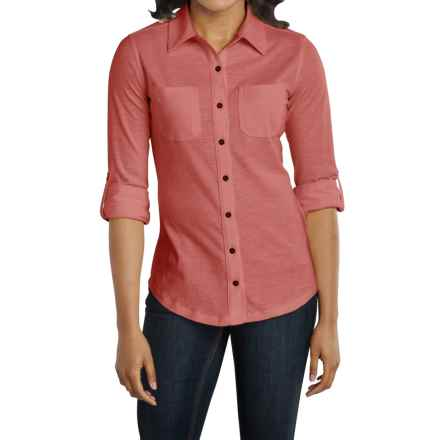 Carhartt Milam Shirt - Long Sleeve, Factory Seconds (For Women) in Marsala - 2nds