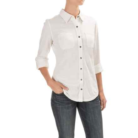 Carhartt Milam Shirt - Long Sleeve, Factory Seconds (For Women) in Marshmallow - 2nds