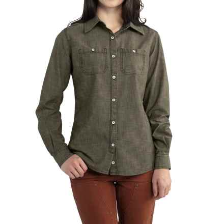 Carhartt Milam Shirt - Long Sleeve, Factory Seconds (For Women) in Moss - 2nds