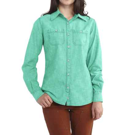 Carhartt Milam Shirt - Long Sleeve, Factory Seconds (For Women) in Spearmint - 2nds