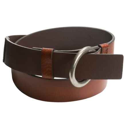 Carhartt Milled-Leather Ring Belt (For Women) in Brown - Closeouts