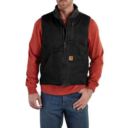 Carhartt Mock Neck Vest - Insulated, Factory Seconds (For Men) in Black - 2nds