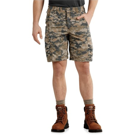 Carhartt Mosby Cargo Shorts - Relaxed Fit (For Men) in Dark Khaki Digi Camo
