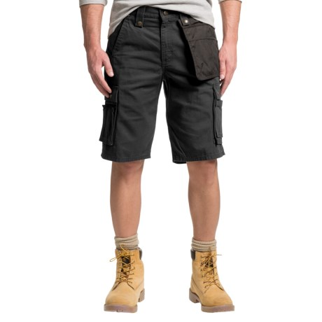 e5f47a21e2 Carhartt Multi-Pocket Ripstop Cargo Shorts - Factory Seconds (For Men) in  Black