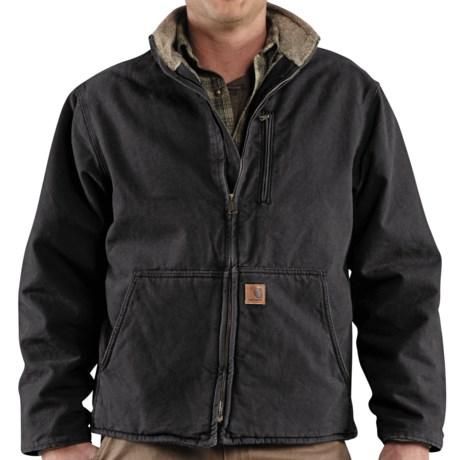 Carhartt Muskegon Jacket - Sherpa Lined (For Men) in Frontier Brown