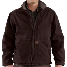 Carhartt Muskegon Jacket - Sherpa Lined (For Men) in Dark Brown - 2nds