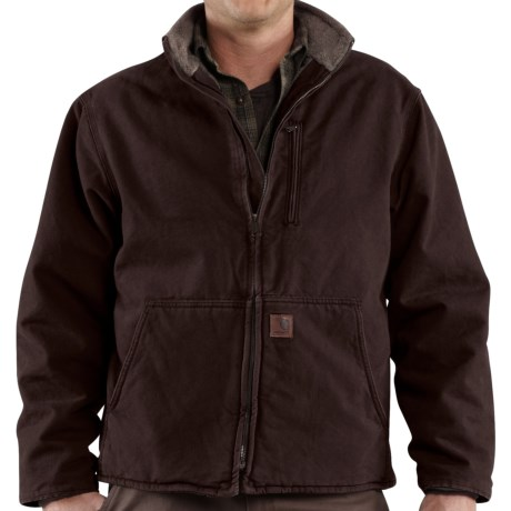 Carhartt Muskegon Jacket - Sherpa Lined (For Men) in Dark Brown
