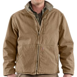 Carhartt Muskegon Jacket - Sherpa Lined (For Men) in Dark Brown