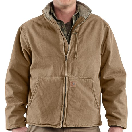 Carhartt Muskegon Jacket - Sherpa Lined (For Men) in Frontier Brown