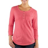Carhartt Norfolk Henley Shirt - Cotton Slub, 3/4 Sleeve (For Women)
