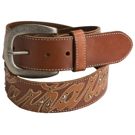 Carhartt Oil-Tanned Leather Work Belt (For Women) in Brown