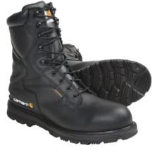 "Carhartt Oil-Tanned Leather Work Boots - 8"", Waterproof, Steel Toe (For Men) in Black - Closeouts"