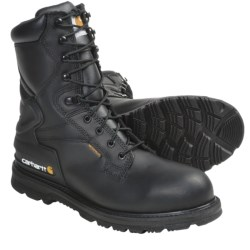 "Carhartt Oil-Tanned Leather Work Boots - 8"", Waterproof, Steel Toe (For Men) in Black"