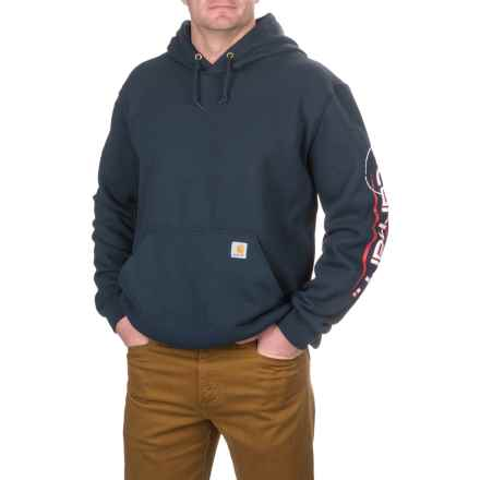 Carhartt Open C Logo Hoodie - Factory Seconds (For Big and Tall Men) in Navy - 2nds