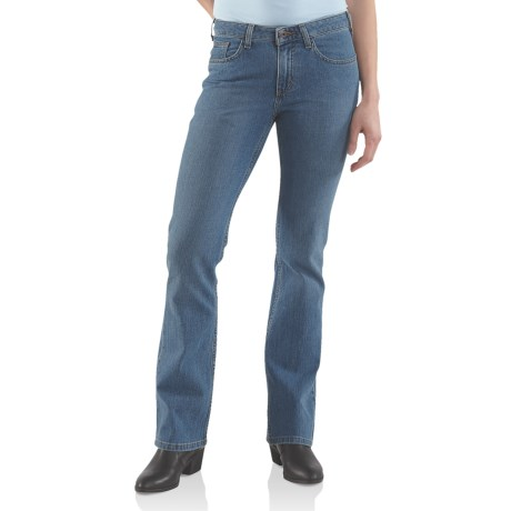 Carhartt Original Fit Basic Jeans - Bootcut (For Women) in Faded Blue Indigo