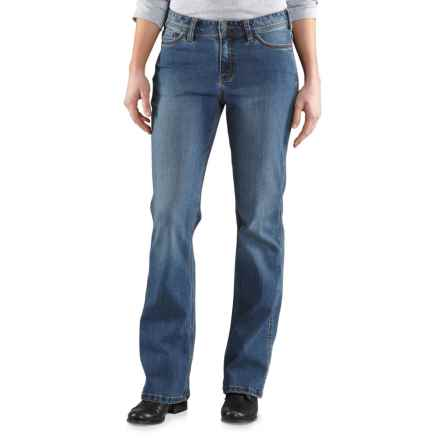 Carhartt Original Fit Jasper Jeans (For Women) in Washed Indigo - Closeouts