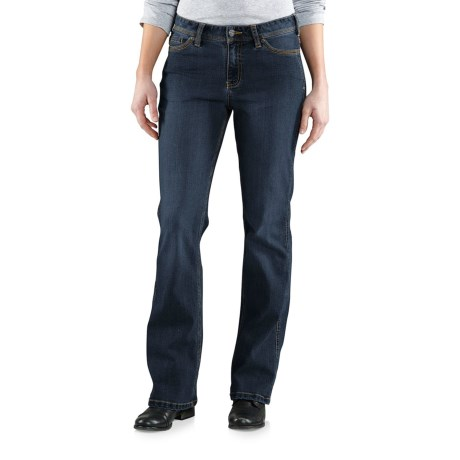 Carhartt Original Fit Jasper Jeans - Mid-Rise, Bootcut (For Women) in True Indigo
