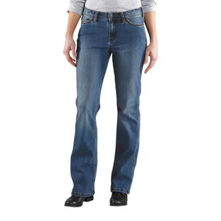 Carhartt Original Fit Jasper Jeans - Mid-Rise, Bootcut (For Women) in Washed Indigo - 2nds