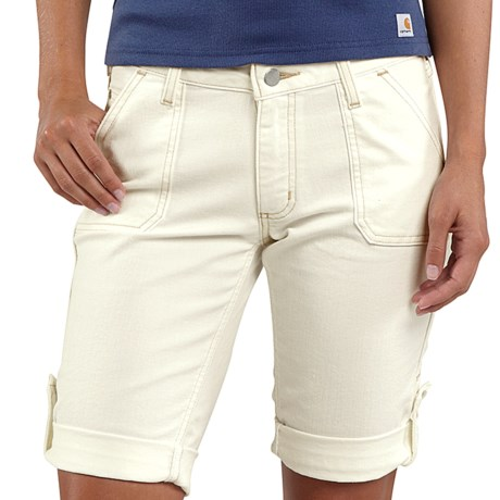 Carhartt Original-Fit Tomboy Shorts (For Women) in Antique White