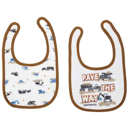 Carhartt Pave the Way Bib Set - 2-Pack (For Infants) in White - Closeouts