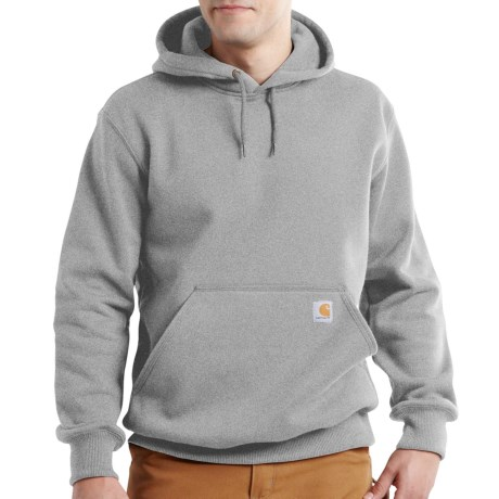 Carhartt Paxton Hooded Sweatshirt - Heavyweight, Factory Seconds (For Big and Tall Men) in Heather Gray