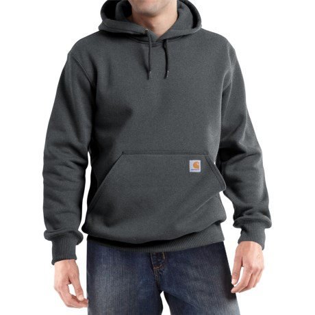 Carhartt Paxton Hooded Sweatshirt - Heavyweight (For Big and Tall Men) in Carbon Heather