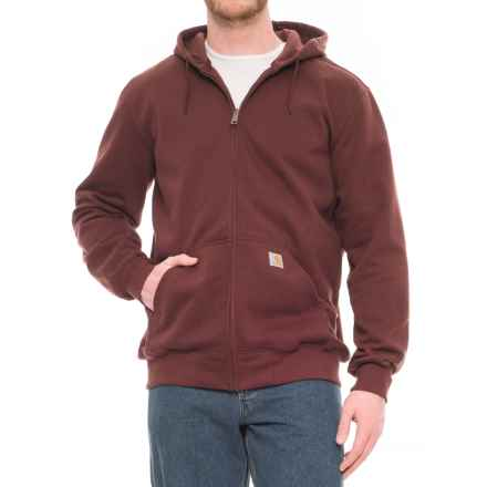 Carhartt Paxton Zip Hoodie (For Big and Tall Men) in Dark Cedar - Closeouts