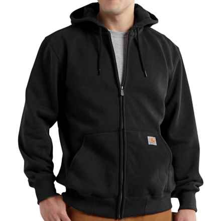 Carhartt Paxton Zip Hoodie - Heavyweight, Factory Seconds (For Big and Tall Men) in Black - 2nds