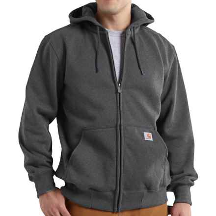 Carhartt Paxton Zip Hoodie - Heavyweight, Factory Seconds (For Big and Tall Men) in Carbon Heather - 2nds