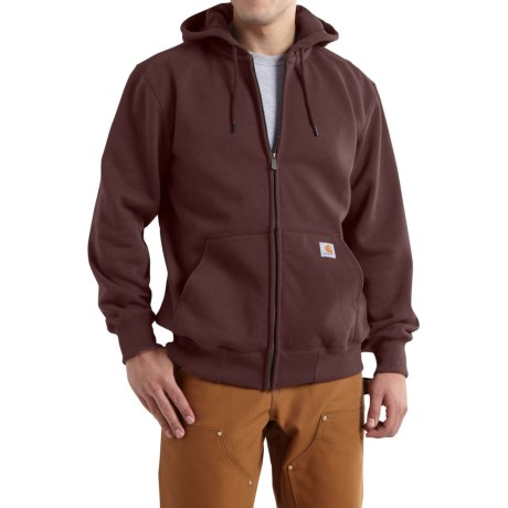 Carhartt Paxton Zip Hoodie - Heavyweight (For Men) in Dark Cedar