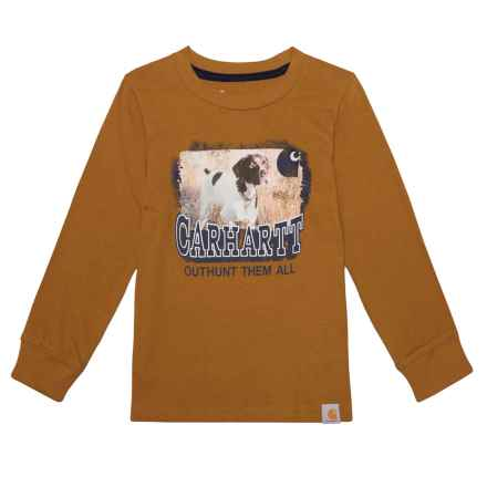 Carhartt Photoreal Brittany Spaniel T-Shirt - Long Sleeve (For Toddler Boys) in Brown - Closeouts