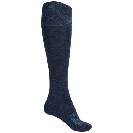 Carhartt Plaid Knee-High Cuff Socks - Over the Calf (For Women) in Denim - Closeouts