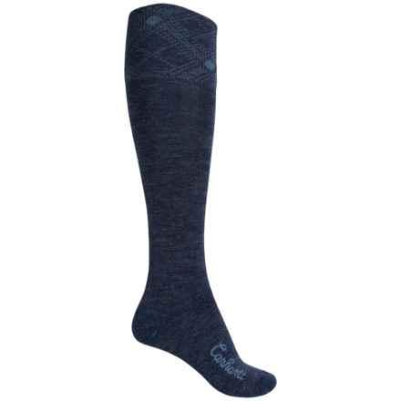 Carhartt Plaid Knee-High Cuff Socks - Over the Calf (For Women) in Denim - Closeouts