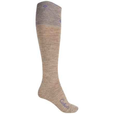 Carhartt Plaid Knee-High Cuff Socks - Over the Calf (For Women) in Khaki - Closeouts