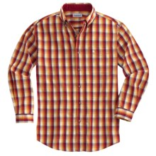 Carhartt Plaid Shirt - Long Sleeve (For Men) in Crimson - 2nds